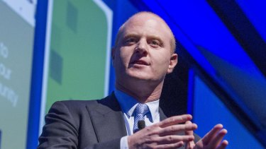 CBA chief executive Ian Narev reported a record annual profit and has announced a $5 billion rights issue.