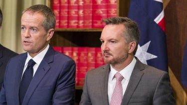 Labor leader Bill Shorten and shadow treasurer Chris Bowen.