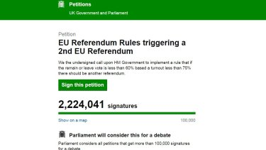 The petition has attracted millions of signatures.