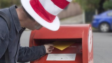 """The """"Cat in the Hat"""" Nick Deane mails an invitation to a game of hide and seek Deputy commander and Australian Army Major General Stuart Smith."""