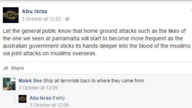 A warning on the Facebook page of Mehmet Biber.