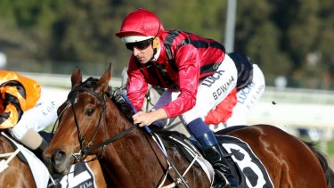 Final winner: Hugh Bowman rides Sultry Feeling to win race 6 at Rosehill.