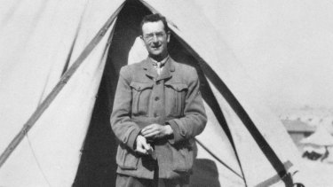 Captain Charles Bean, legendary World War I war correspondent.