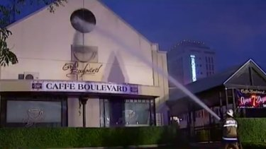 The blaze broke out at Caffe Boulevard just after 4.30am.