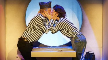Renee Newman and Jo Morris star in <i>Those Who Fall in Love like Anchors Dropped Upon the Ocean Floor</I>.