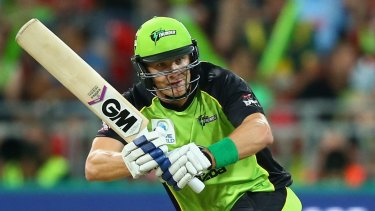 Top class: Shane Watson, of Sydney Thunder, is just one of the many stars playing in the Big Bash League.