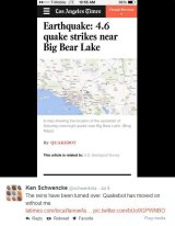 Quakebot reports on an LA earthquake.