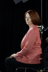 Former Prime Minister Julia Gillard, during filming of <i>The Killing Season</i>.