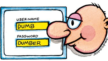 Recent security breaches have been blamed on users not taking enough care with their passwords. <i>Illustration: John Shakespeare</i>