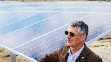Impact investment Group's Lane Crockett at the opening of the new Williamsdale Solar Farm.
