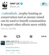 The tweet reply from WWF UK.