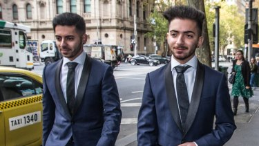 The Jalal brothers at Melbourne Magistrates Court on Friday.