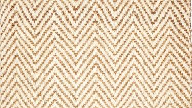 Herringbone beige rug, 120cm x 180cm, $175.