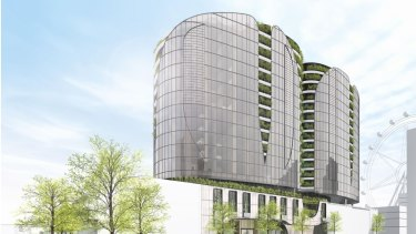 The Docklands tower Melbourne City Council supported this week that will house apartments and a Marriott hotel.