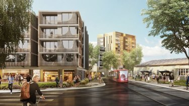 An artist's impression of redevelopment at North Parramatta.