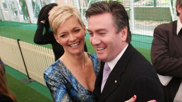 'Today' host Jessica Rowe with Eddie McGuire, before she was axed.