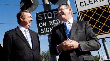 Former Transport Minister Terry Mulder and Former Premier Denis Napthine promised a mobile service would be delivered last year.