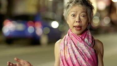 Where the bloody hell are you? ... Lee Lin Chin looks at a deserted Sydney street in a spoof attacking the lockout laws.