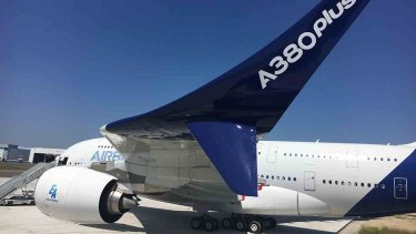 The new wing design adds to other modifications presented earlier this year, including new stairways and cabin rest area to fit in more seats, with Airbus dubbing the enhanced version the 'A380plus'.