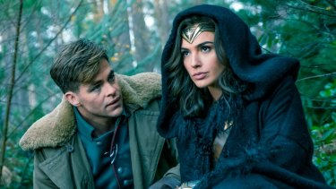 Too coy: Chris Pine and Gal Gadot in Wonder Woman.