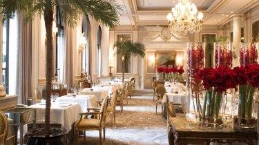 Le Cinq restaurant in France.