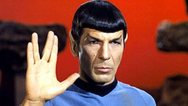 Mr Spock of <i>Star Trek</i>.