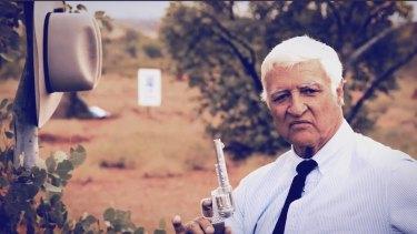 A screen grab from Bob Katter's controversial campaign ad.