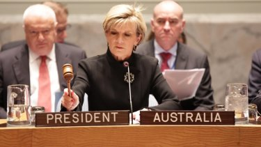 Foreign Minister Julie Bishop has taken issue with US President Barack Obama's weekend speech in which he alluded to dangers facing the Great Barrier Reef.