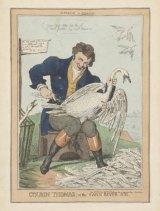 A caricature of Thomas Peel.