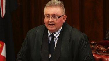 NSW upper house president Don Harwin.