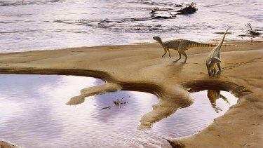 An artist's impression of the <i>Leaellynasaura amicagraphica</i>.