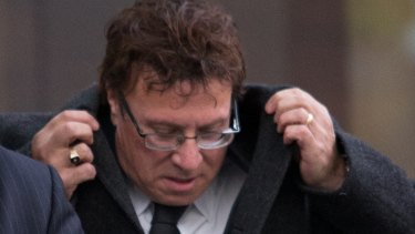 Nino Napoli leaves court after an IBAC hearing last year.