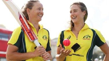 Brand power: Australian stars Meg Lanning and Ellyse Perry.