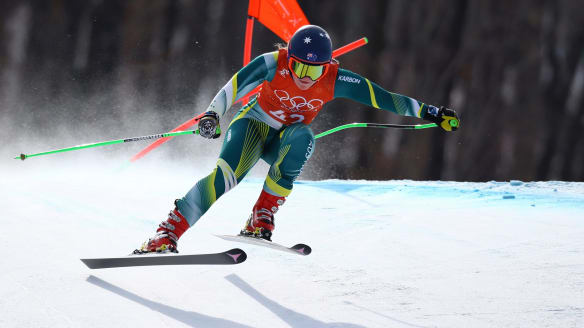 'Four years ago where I thought I'd be coming into these Games I'm nowhere near that. Two injuries definitely set me back': Small ahead of Wednesday's downhill event.