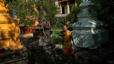 A monk in the region of Angkor.