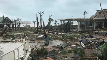 Significant damage was reported on the island.