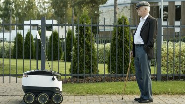Starship is testing its ground-based delivery drones in London.
