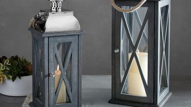 Small Hudson lantern by Pottery Barn.