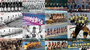 Every Australian men's Olympics eight from 1952-2012.
