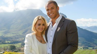 Speaking out: Blake Garvey and Louise Pillidge encourage anyone searching for love to sign up for The Bachelor.