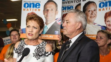 "One Nation leader Pauline Hanson declared the party's election result was ""fantastic"", despite falling well short of predictions."