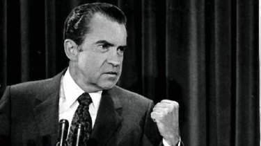 Richard Nixon: brought down by the Watergate scandal.