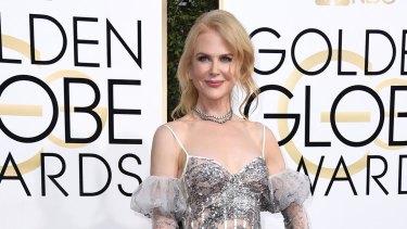 Nicole Kidman at the Golden Globes, where co-star Meryl Streep gave an impassioned speech.