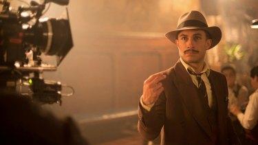Gael Garcia Bernal in the film <i>Neruda</i>.