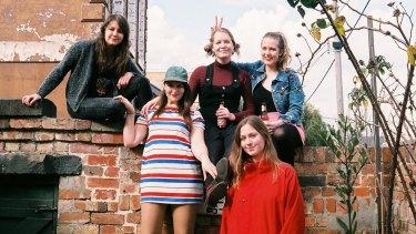 Lazertits: Victoria Jakobssen, Alexandra Love-Dack, Amy Pettifer, Emily Goodman and Rose Watson.