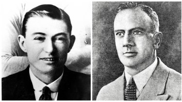 The property, once operated as a boat-building business by chief suspect Reginald Holmes (right), is connected with the infamous 1935 'Shark Arm Murder' of small-time criminal James Smith (left).