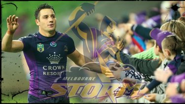One-club man: Storm star Cooper Cronk.