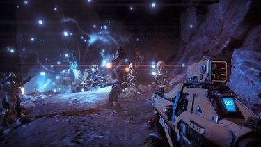 """""""30 seconds of fun"""": Bungie's trademark firefights return in <em>Destiny</em>."""
