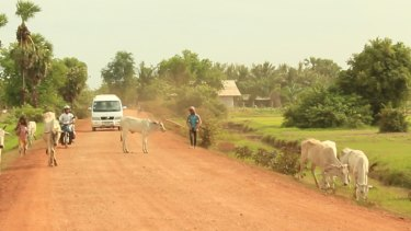Bunhom Chhorn and his crew search the Cambodian countryside for Camp 32.