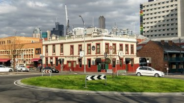 The Corkman Irish pub in Carlton, built in 1857 and demolished illegally this month.